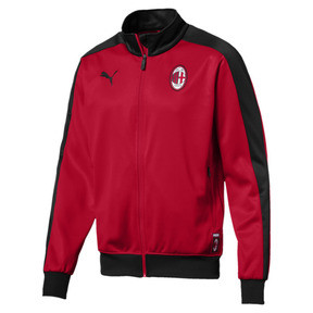 Thumbnail 4 of AC Milan Men's T7 Track Jacket, Tango Red-Puma Black, medium