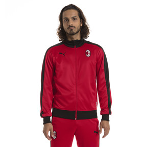Thumbnail 1 of AC Milan Men's T7 Track Jacket, Tango Red-Puma Black, medium