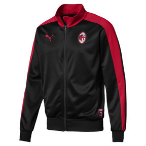 Thumbnail 4 of AC Milan Men's T7 Track Jacket, Puma Black-Tango Red, medium