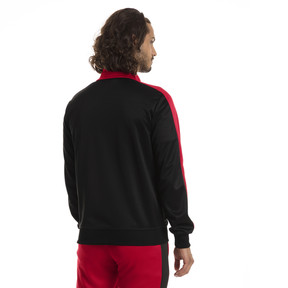 Thumbnail 3 of AC Milan Men's T7 Track Jacket, Puma Black-Tango Red, medium