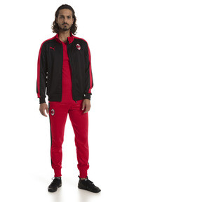 Thumbnail 5 of AC Milan Men's T7 Track Jacket, Puma Black-Tango Red, medium