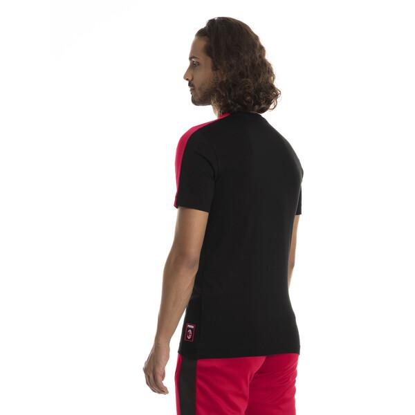 AC Milan Men's T7 T-Shirt, Puma Black-Tango Red, large