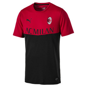 Thumbnail 1 of AC Milan Men's Fan Poly T-Shirt, Tango Red-Puma Black, medium