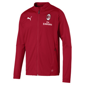 Thumbnail 4 of AC Milan Men's Track Jacket, Chili Pepper-puma white, medium