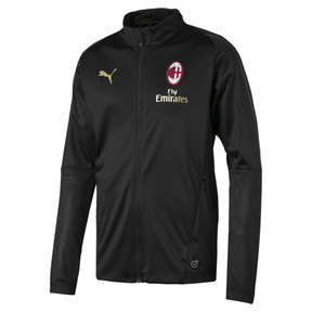 Thumbnail 4 of AC Milan Men's Track Jacket, Puma Black-asphalt, medium