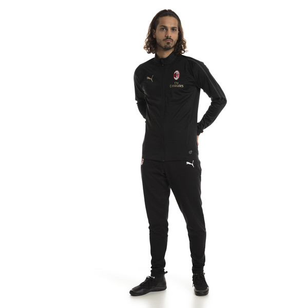 AC Milan Men's Track Jacket, Puma Black-asphalt, large