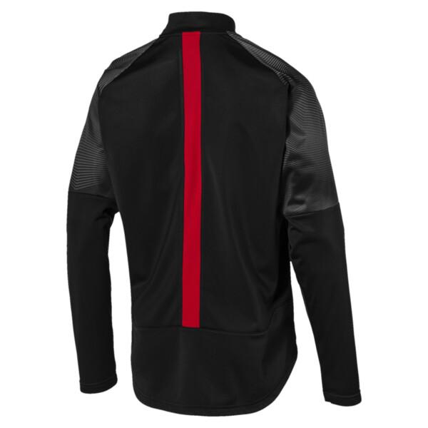 AC Milan Stadium Men's Poly Jacket, Puma Black-Tango Red, large