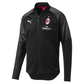 Thumbnail 4 of AC Milan Stadium Men's Jacket, Puma Black-Tango Red, medium