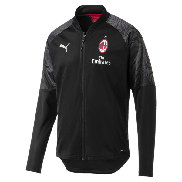 AC Milan Stadium Men's Jacket, Puma Black-Tango Red, large