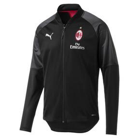Thumbnail 1 of AC Milan Stadium Men's Poly Jacket, Puma Black-Tango Red, medium