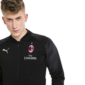 Thumbnail 1 of AC Milan Stadium Men's Jacket, Puma Black-Tango Red, medium
