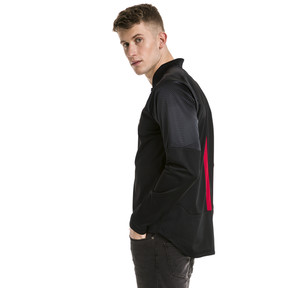 Thumbnail 2 of AC Milan Stadium Men's Jacket, Puma Black-Tango Red, medium