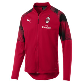 Thumbnail 1 of AC MILAN ポリ ジャケット, Tango Red-Puma Black, medium-JPN