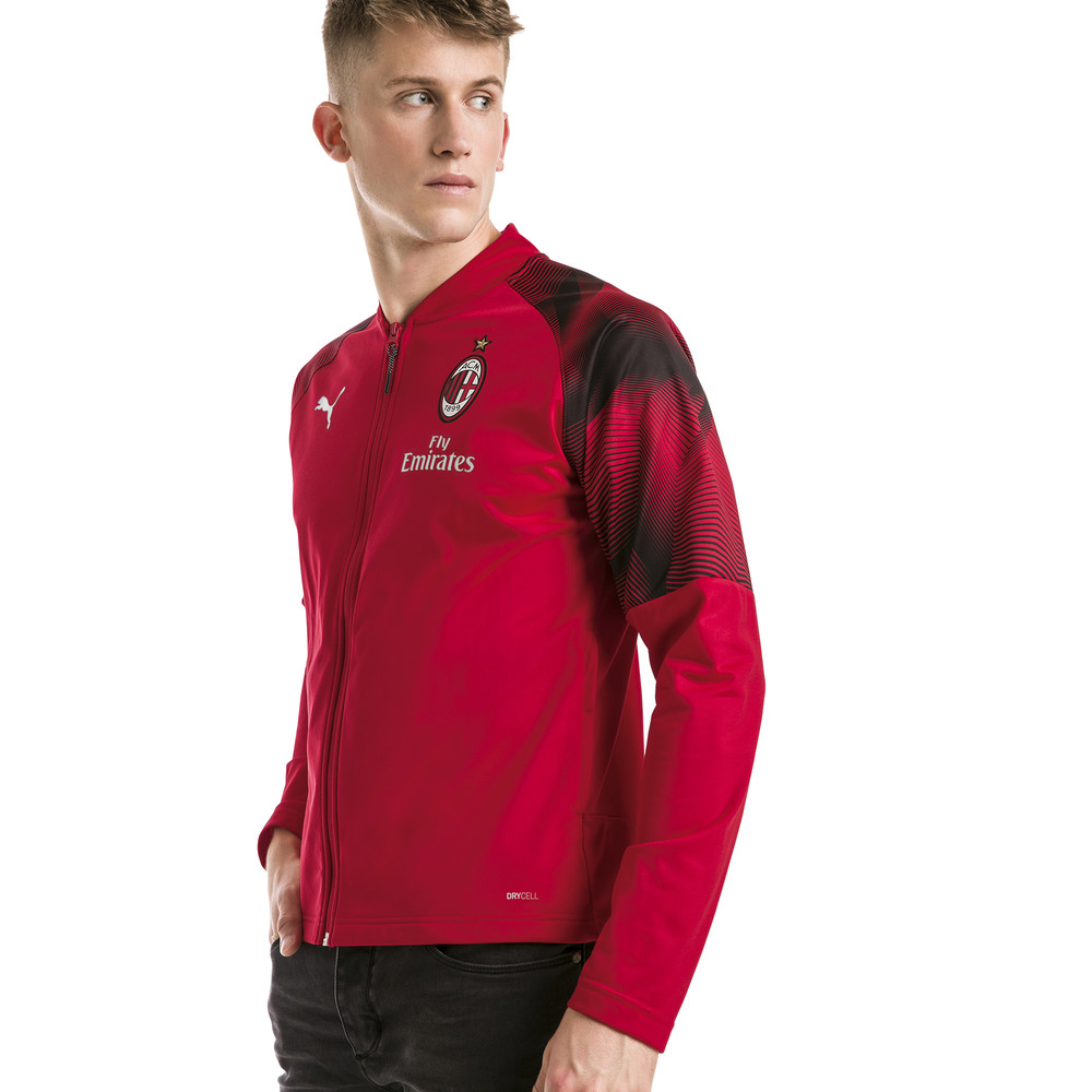 Ac Milan Men S Stadium Jacket Red Puma
