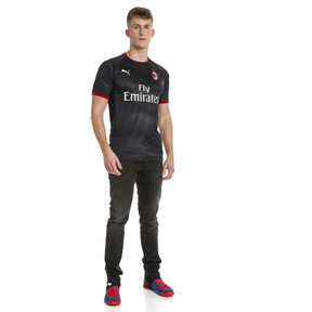 Thumbnail 3 of AC Milan Men's Stadium Jersey, Puma Black-Dark Shadow, medium