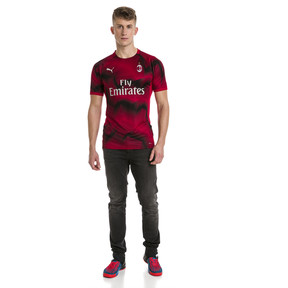 Thumbnail 3 of AC Milan Men's Stadium Jersey, Tango Red-Puma Black, medium