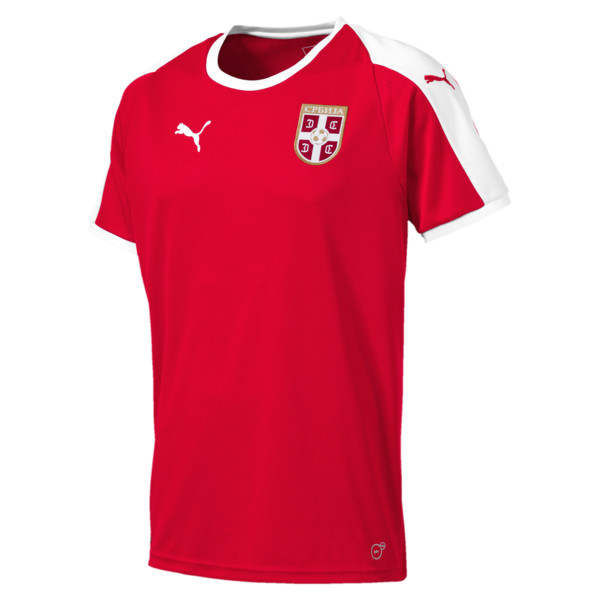 Serbia Home Shirt, Puma Red-Puma White, large