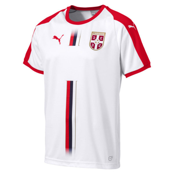Serbia Away Shirt, Puma White-Puma Red, large