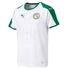 Thumbnail 1 of Senegal Home Shirt, Puma White-Pepper Green, medium