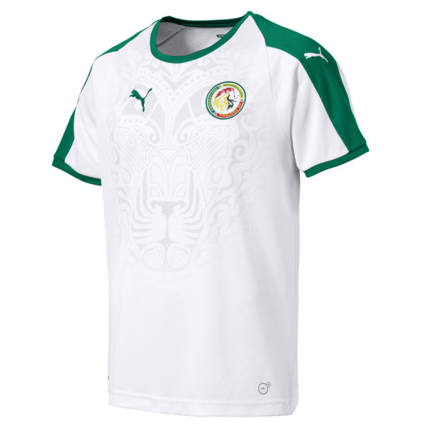 Senegal Home Shirt, Puma White-Pepper Green, large