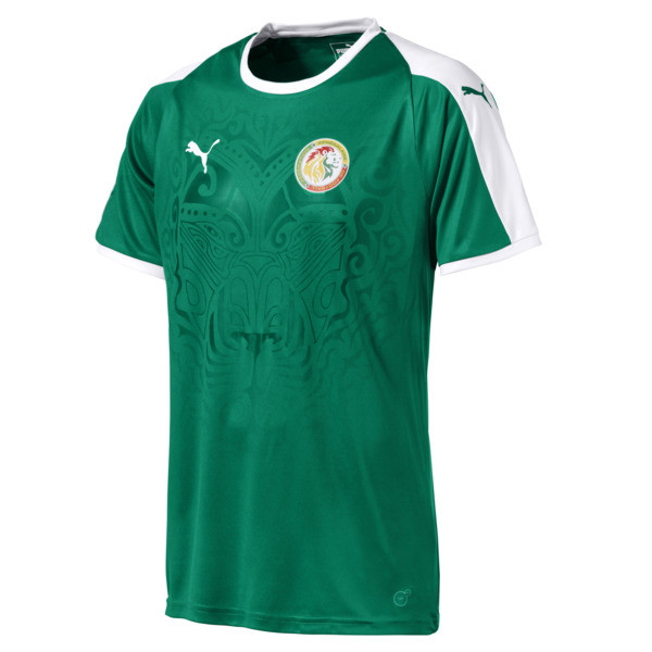 Senegal Away Shirt, Pepper Green-Puma White, large