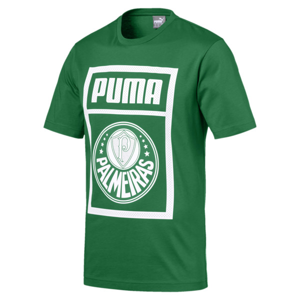 Palmeiras Men graphic Tee, Amazon Green-Puma White, large