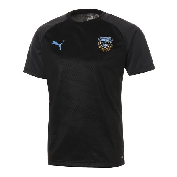 フロンターレ プレマッチ ハンソデ トレーニング シャツ, Puma Black-FR Blue, large-JPN