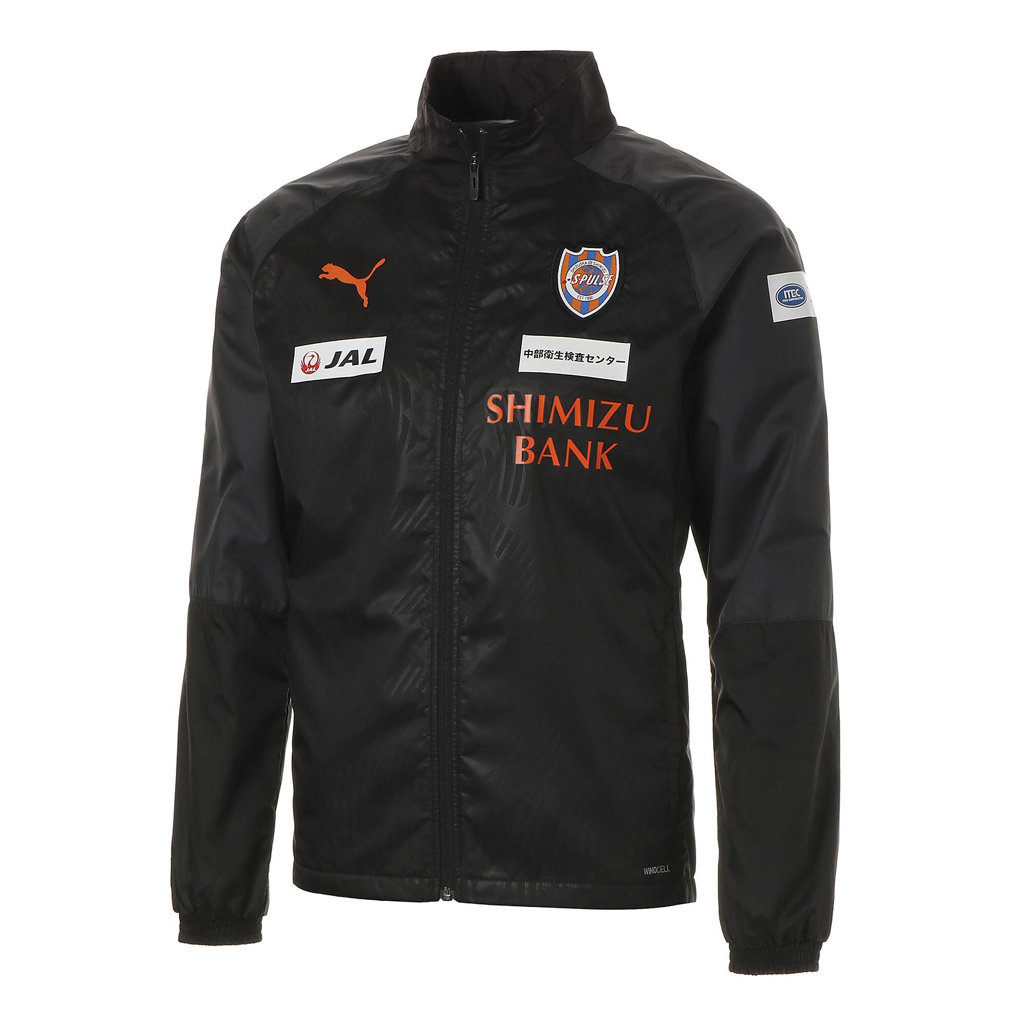 【プーマ公式通販】 プーマ エスパルス 19 ラインド ウーブン ジャケット メンズ Puma Black-SP orange |PUMA.com