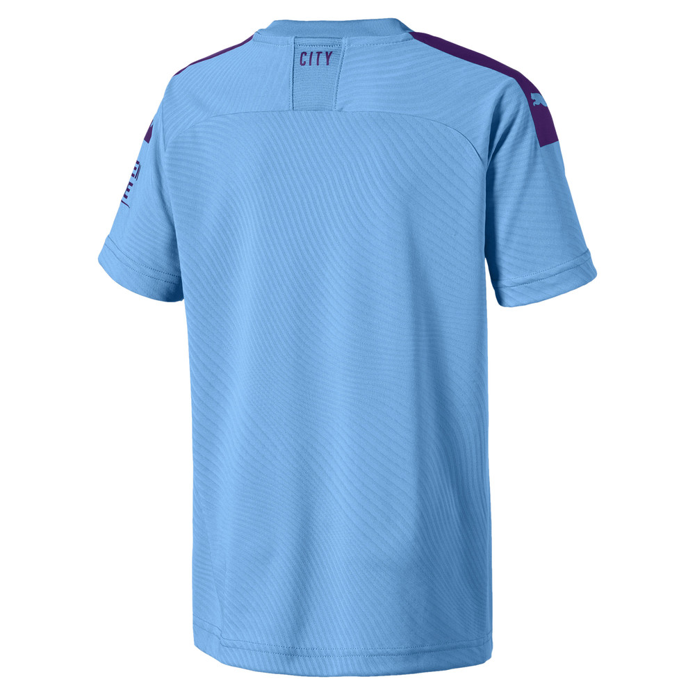 Image PUMA Man City Short Sleeve Kids' Home Replica Jersey #2