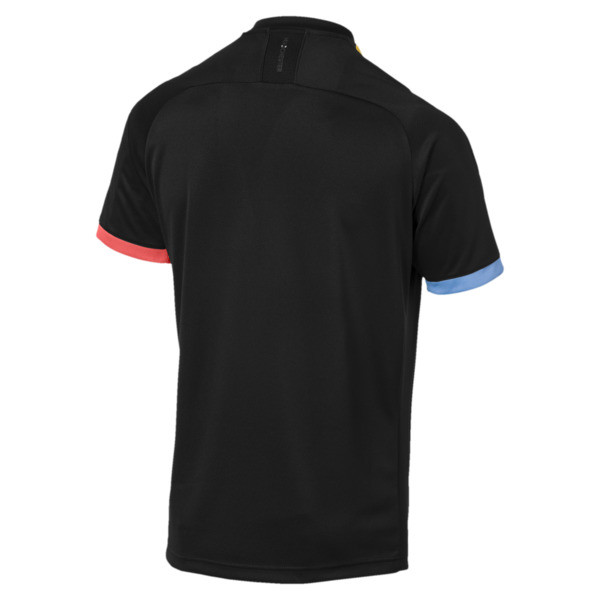Man City Short Sleeve Men's Away Replica Jersey, Puma Black-Georgia Peach, large