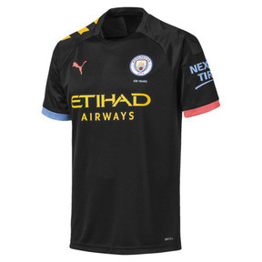 Miniatura 1 de Réplica de camiseta de visitante de Manchester City para hombre, Puma Black-Georgia Peach, mediano