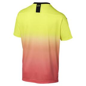 Miniatura 2 de Réplica de la tercera camiseta del Manchester City FC para hombre, Fizzy Yellow-Georgia Peach, mediano