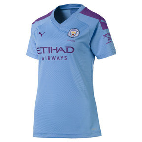 Thumbnail 1 of Man City Women's Home Replica Jersey, TeamLightBlue-TillandsiaPurp, medium