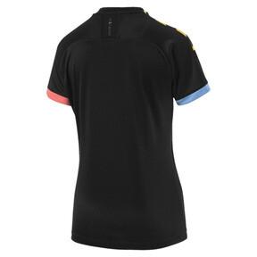 Thumbnail 2 of Man City Short Sleeve Women's Away Replica Jersey, Puma Black-Georgia Peach, medium