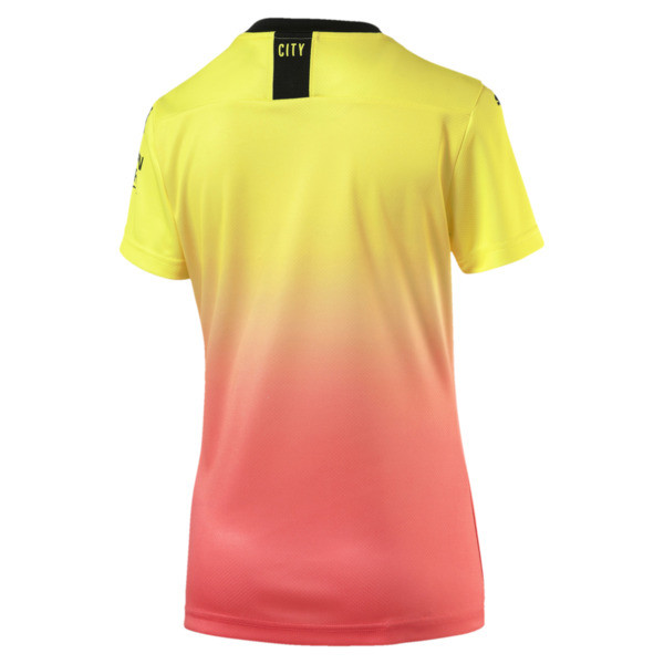 Man City Short Sleeve Women's Replica Third Jersey, Fizzy Yellow-Georgia Peach, large