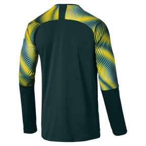 Thumbnail 2 of Man City Men's Replica Goalkeeper Jersey, Ponderosa Pine-Cyber Yellow, medium