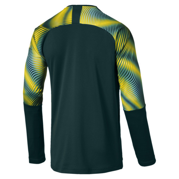 Man City Men's Replica Goalkeeper Jersey, Ponderosa Pine-Cyber Yellow, large