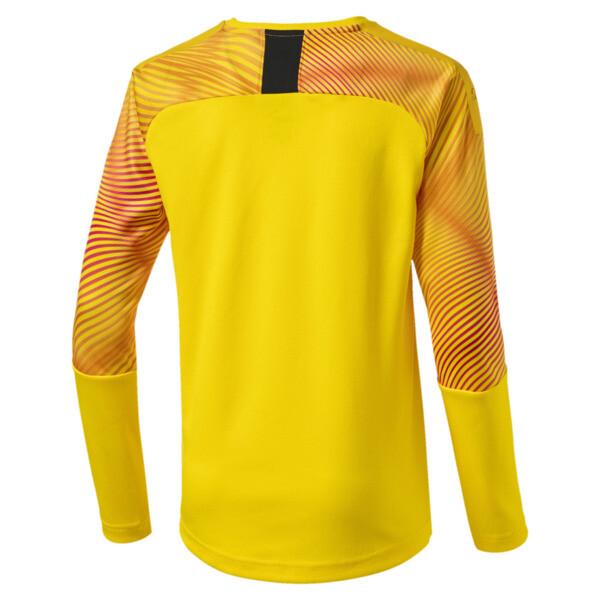 Man City Long Sleeve Kids' Replica Goalkeeper Jersey, Cyber Yellow-Puma Black, large
