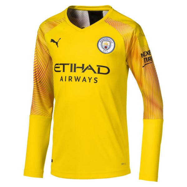 e7a53e6f19059f Dziecięca replika koszulki bramkarza z długim rękawem Man City, Cyber  Yellow-Puma Black,