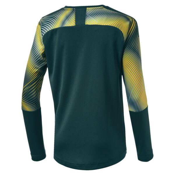Man City Long Sleeve Kids' Replica Goalkeeper Jersey, Ponderosa Pine-Cyber Yellow, large