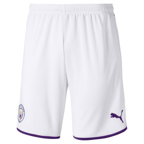 af947509f2 Manchester City Men's Away Replica Shorts, Puma White-Tillandsia Purple,  medium