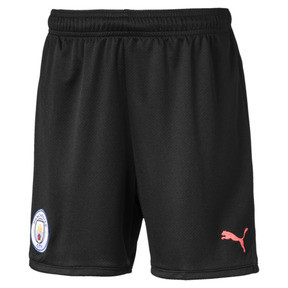 Thumbnail 1 of Manchester City FC Kids' Third Replica Shorts, Puma Black-Georgia Peach, medium