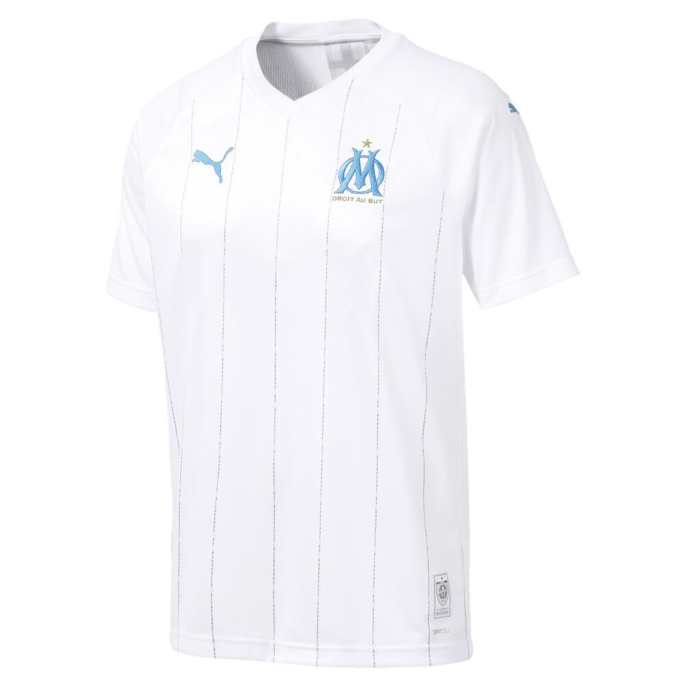 Image Puma Olympique de Marseille Men's Home Replica Jersey #1