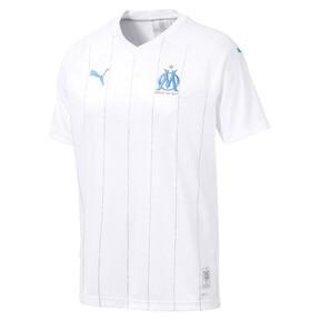 Thumbnail 1 of Olympique de Marseille Herren Replica Heimtrikot, Puma White-Bleu Azur, medium