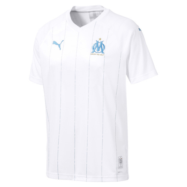 Olympique de Marseille Herren Replica Heimtrikot, Puma White-Bleu Azur, large