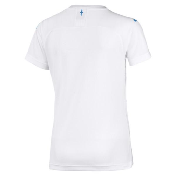 Maillot Domicile Olympique de Marseille Replica pour femme, Puma White-Bleu Azur, large