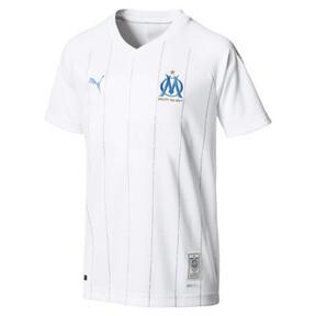 Thumbnail 1 of Olympique de Marseille Boys' Home Replica Jersey, Puma White, medium