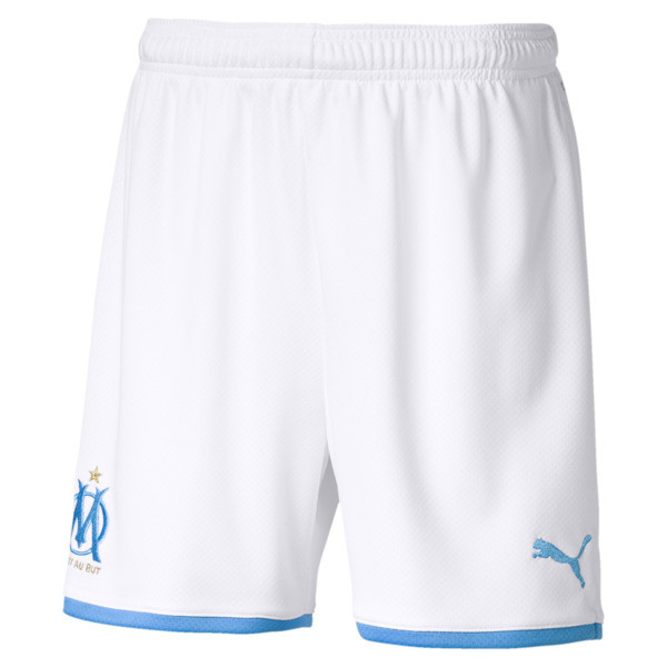 Olympique de Marseille replica-short voor jongens, Puma White, large