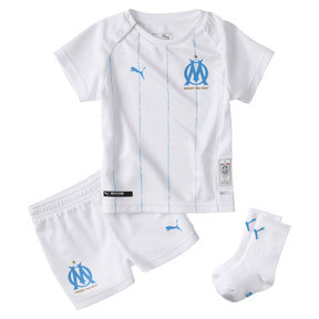 Thumbnail 1 of Olympique de Marseille Babies' Home Mini Kit, Puma White-Bleu Azur, medium