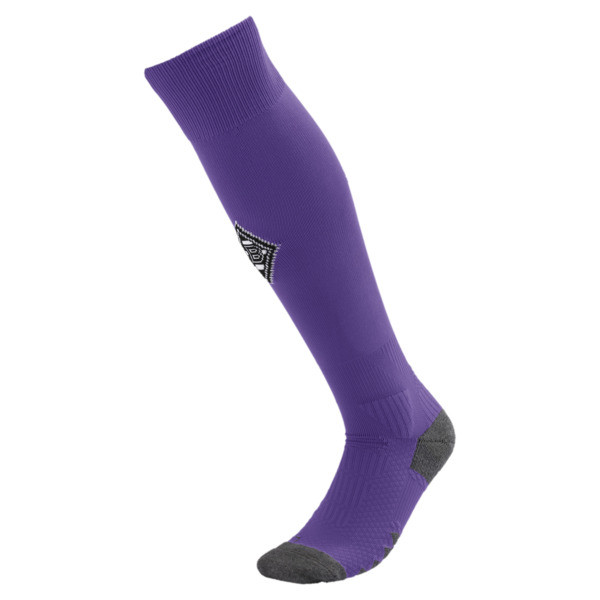 Borussia Mönchengladbach Men's Football Socks, Prism Violet-Puma White, large